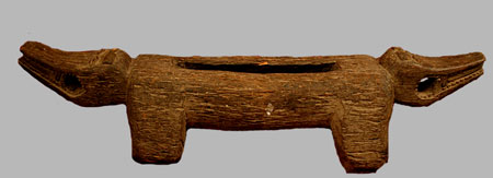 Dogon Wooden Gong in the Form of a Double-Headed Animal